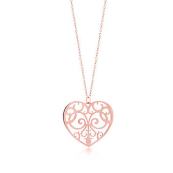 Tiffany & Co. - Tiffany Enchant® heart pendant in RUBEDO® metal, medium.