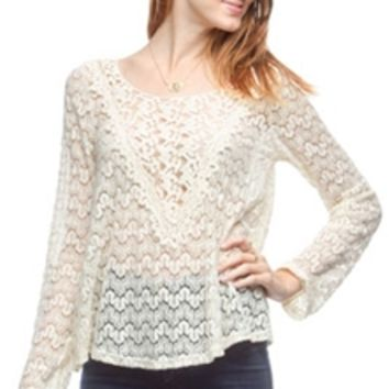 Ya Clothing Crochet Lace Top YL16306