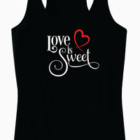 Love is Sweet Racerback Tank Top