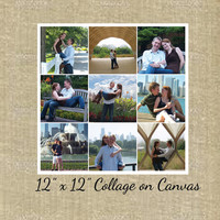 12x12 Canvas Collage- Photo collage canvas, engagement photos collage, wedding photo collage, baby photo collage