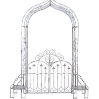 A.M.B. Furniture & Design :: Patio furniture :: Garden Accessories :: Sturdyg Metal Garden Gate in Black Finish