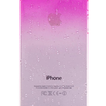 Pink Clear Waterdrop Hard Case For iPhone 5 & 5S