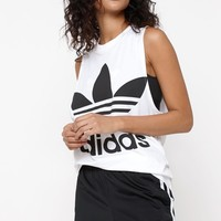 adidas Adicolor White and Black Trefoil Tank Top at PacSun.com - white/black | PacSun
