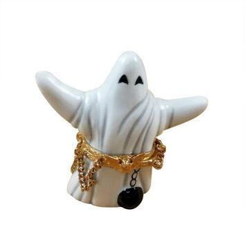 GHOST WITH BALL/CHAIN LIMOGES BOXES