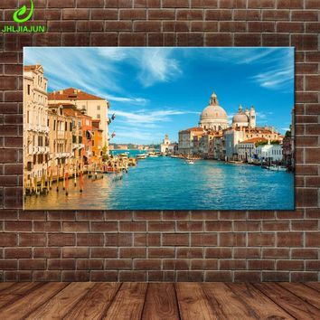 Fashion Wall Picture Grand Canal Venice Italy Photo Home Decor On Canvas Modern Wall Art Canvas Print Poster Canvas Painting