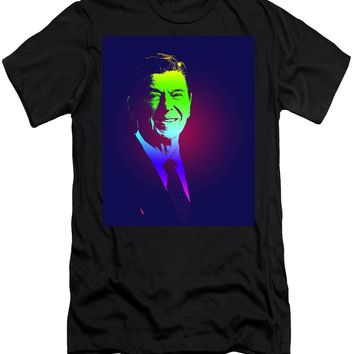 Portrait Of President Reagan 1981 Poster - Men's T-Shirt (Athletic Fit)