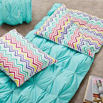 Pintuck Sleeping Bag + Pillowcase, Color Me Zig Zag