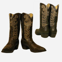 Men's Boots, Cowboy Boots, Leather Boots, Western Boots- Country, Rodeo, Footwear, Men's Shoes