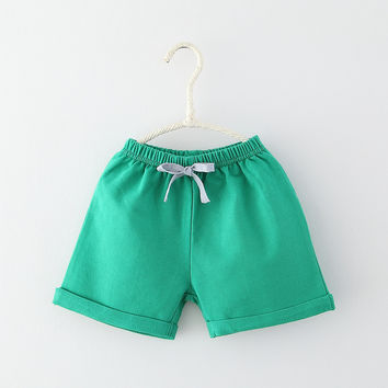 90 Delivery Days Summer Cheap Casual Girls/Boys Shorts Colors Kids Trousers Baby Toddlers Clothes T1/0868DBO