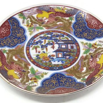 Vintage Imari Wall Plaque, Vintage Imari Small Plate, Traditional Home Chinoiseri, Japanese Porcelain, Mid Century