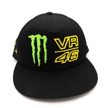 Valentino Rossi Monster Energy VR46Trucker Flat Peak Cap Official New