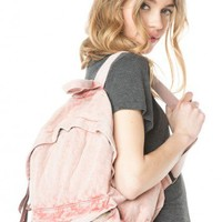 Brandy ♥ Melville |  John Galt Washed Fabric Backpack - Just In