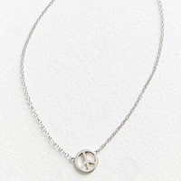 Peace Sign Charm Necklace | Urban Outfitters