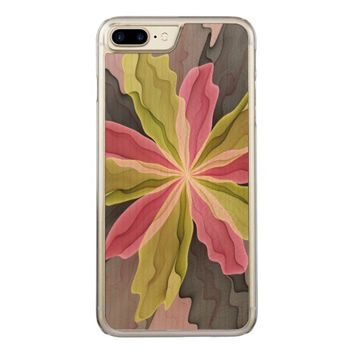 No Sadness, Joy, Fantasy Flower Fractal Art Carved iPhone 7 Plus Case