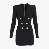 Tailored Double Breasted Dress for Women - Balmain.com