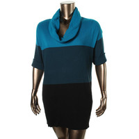 INC Womens Ribbed Knit Cowl Neck Sweaterdress