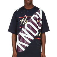 Juun.j Navy Cant Knock The Hustle Graphic T-shirt