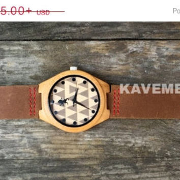 SALE Mens Wood Watch. Mens Watch. Engrave Watch. Personalized Watch. Mens Watches. Mens Personalized Watch. Nevada. Kavemen.