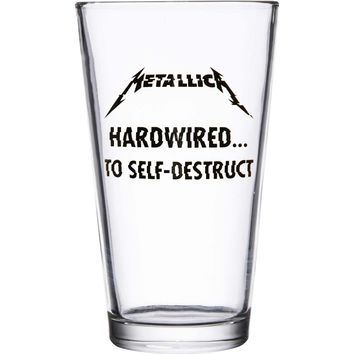 Metallica Pint Glass