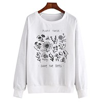Plant These, Save The Bees - Crew Sweatshirt
