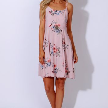 Love Found Floral Dress Blush