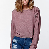 LA Hearts Cropped Pullover Fleece Sweatshirt at PacSun.com