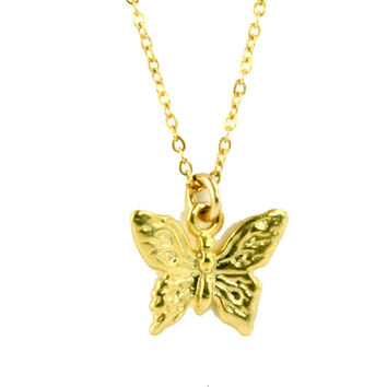 Hot Butterfly Charm Necklace