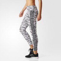 adidas Sports Essentials 3-Stripes Tights - Blue | adidas UK
