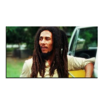 Large size Printing Oil Painting bob marley hd Wall painting Decor Wall Art Picture For Living Room painting No Frame