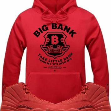 Air Jordan Retro 12 Gym Red Sneaker Hoodie - BIG BANK RK