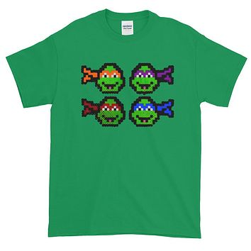 Ninja Turtles Perler Art Short-Sleeve T-Shirt by Aubrey Silva