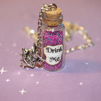Alice in Wonderland Drink Me Bottle Necklace by LifeistheBubbles