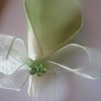 Green Decorated Candy Favor, Handmade decorated wedding or new born candy favor, min order 10 pcs, free shipping