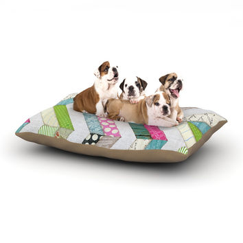 """Heidi Jennings """"Fabric Much?"""" Colored Cloth Dog Bed"""