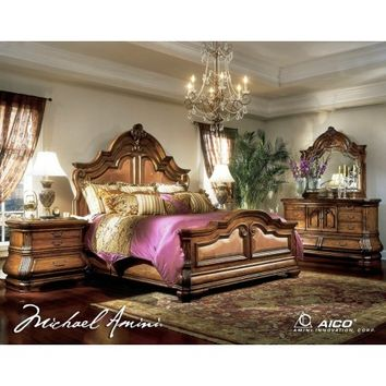 AICO Furniture Tuscano Mansion Bedroom Set - 34000 - Aico Bedroom Furniture
