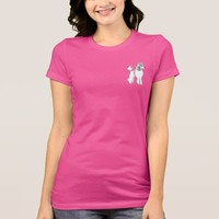 White Poodle Accent Women's Jersey T-Shirt