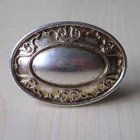 Shabby Chic Dresser Drawer Knobs Pulls Handles Oval Cabinet Knob Pull Handle Antique Silver White Rustic Vintage Furniture Hardware 102