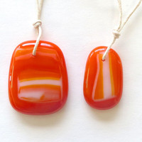 Mother Daughter Orange We A Pair Necklaces by The Wild Willows