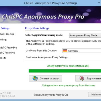 ChrisPC Anonymous Proxy Pro 6.50 Crack Full Keygen