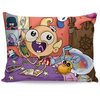Flapjack Telephone Game Pillow Case