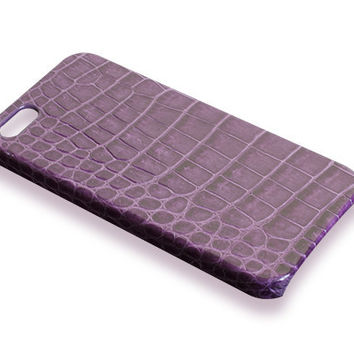 iPhone 5S case - violet alligator