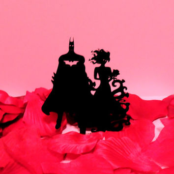 Batman and Poison Ivy Cake Topper