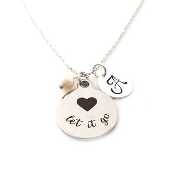 Let It Go Frozen Charm - Personalized Sterling Silver Necklace