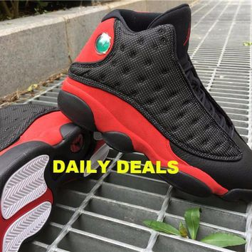 NIKE AIR JORDAN RETRO 13 XIII BRED BLACK RED WHITE 3M 414571 004