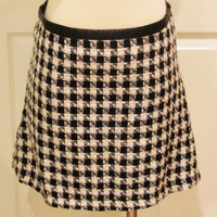 Plaid Skirt Tartan Skirt School Girl Skirt Black White Skirt 90s Skirt Size Small Skirt Vintage Clothing Teen Grunge Punk Rock Skirt Skater