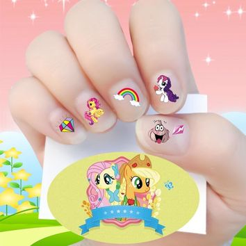 New arrive Waterproof  3D Nails Sticker my little pony 15 Design for children
