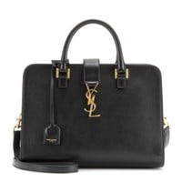 saint laurent - cabas small monogramme leather tote