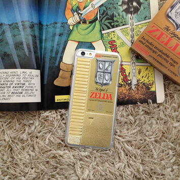 Gold NES Legend of Zelda Cartridge, Custom Phone Case for iPhone 4/4s, 5/5s, 6/6s, 6/6s+, and iPod Touch 5
