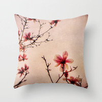 Spring Blooms Photo Pillow Cover Living Room Home Decor Bedroom Flower Photo Pillow Nature Poppy Throw Pillow Case Whimsical Pink Floral