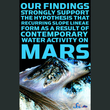 Water on Mars Poster
